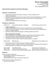 examples of administrative assistant resume resume administrative sample resume of executive assistant