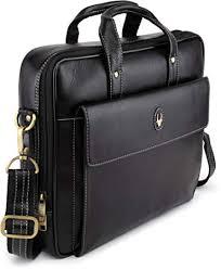 WildHorn Black <b>100</b>% <b>Genuine Leather</b> 14.5 inch Laptop ...