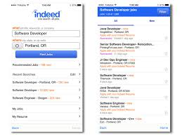 gallery mobile apps for making job hunting and networking indeed job search