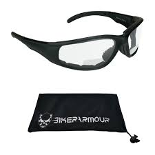 Safety <b>Motorcycle Sports Glasses</b> Yellow Lens Tint Fits Over Eye ...