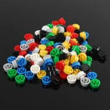 140pcs Round <b>Mixed Color</b> Tactile Button Caps Kit For 12x12x7 ...