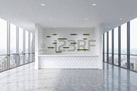 reception desk a reception area in a modern bright clean office interior huge panoramic boutique reception counter