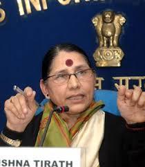 Smt. Krishna Tirath, Minister for Women and Child Development