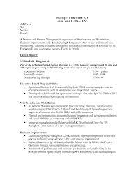 functional resume samples  tomorrowworld cofunctional