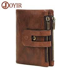 <b>JOYIR Men Wallet</b> Leather <b>Genuine</b> Vintage Coin <b>Purse</b> ...