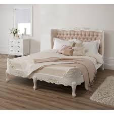 white king bedroom furniture antique french upholstered white king bed with smooth cream tufted hea
