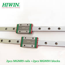 <b>2pcs</b> Original <b>HIWIN linear guide</b> rail MGN9 L 200mm 300mm ...
