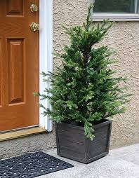 Fraser Hill Farm 4-Ft. <b>Royal</b> Pine Artificial Potted <b>Battery</b>-Operated ...