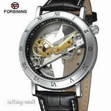 forsining brown genuine leather strap tourbillion luxury maltifuction display men business automatic watches top brand