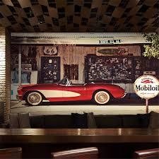 beibehang <b>wall</b> paper Restaurant coffee shop bar background <b>retro</b> ...