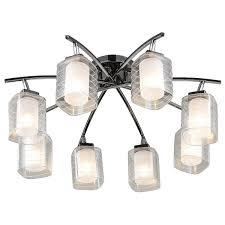 <b>Люстра потолочная LAMPLANDIA</b> L1102-8, 8 ламп цвет черный в ...