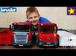 Машинки Контейнеровозы <b>BRUDER</b> Scania и Mercedes-Benz ...
