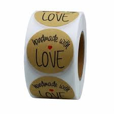 <b>500pcs 1 Inch thank</b> you stickers envelope stickers Round Natural ...