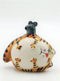 "<b>Фигурка</b>, статуэтка ""Толстый <b>кот</b> с мышью"" CheriDes 9631124 в ..."