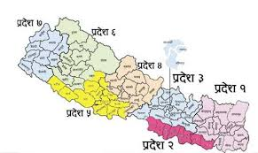Image result for map of nepal with provinces