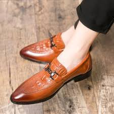 Men's Pointed Leather Shoes Fashion Dress Shoes ... - Vova