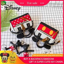 <b>Genuine Disney Mickey Mouse</b> Women Rhombic Ladies Crossbody ...