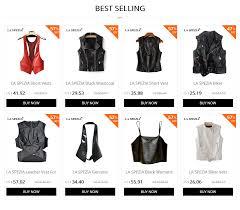 <b>LA SPEZIA Genuine Leather</b> Waistcoat Women Black Slim Vest ...
