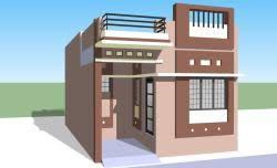 bhk row house d plan   GharExpert bhk row house d planrow house