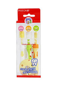 Buy <b>Pigeon Training Toothbrush</b> Lession 123 Set (Multicolor) Online ...