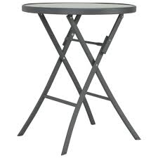 Furniture <b>Bistro Table Vintage</b> Style Round Metal 40x70 cm White ...