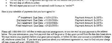 chase debt settlement letter sample settlement letter