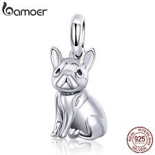 BAMOER <b>New Arrival 925 Sterling</b> Silver Trendy French Bulldog ...