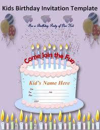 card kids birthday invitation card template inspiration kids birthday invitation card template
