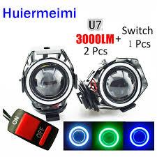 Huiermeimi <b>1Pair 125W Motorcycle</b> LED Headlight Headlamp Moto ...