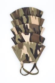 Washable & Reusable <b>Face Mask</b> - Camo Pack ( <b>5 Pcs</b> )