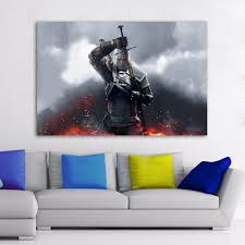 <b>HDARTISAN</b> Game Poster Canvas Art Modern The Withcher Sword ...