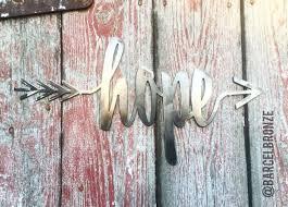 iron wall decor u love: hope metal wall art custom metal sign home decor arrow wood art entry decor custom arrow sign nursery decor gift idea faith love