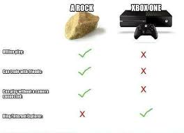 Rock VS Xbox One | Xbox | Know Your Meme via Relatably.com