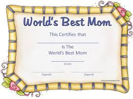 certificate aof best mother template certificate aof best mother template
