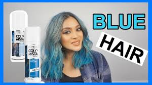 <b>loreal colorista spray</b> trial || how i colored my hair blue