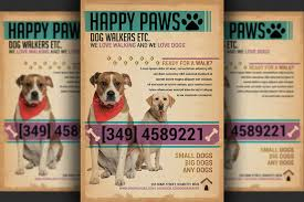 Dog Walkers Flyer Template ~ Flyer Templates on Creative Market Dog Walkers Flyer Template - Flyers