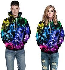 <b>2019</b> Unisex <b>Hoodies</b> 3D Digital <b>Pullover Sweaters Couple</b> Casual ...