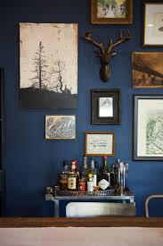 gallery blue wall interior design