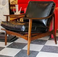 sharethis black leather mid century