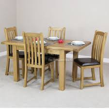 extendable dining table set: cheshire rustic oak small dining table set  slat back dining chairs