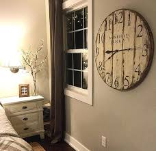 farmhouse clock co distressed large round wooden wall clock big unique diy wall clocks