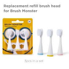 <b>Toothbrush Replacement</b> Refill <b>Brush heads Brush</b> Monster <b>3pcs</b> ...
