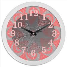 """Часы круглые из пластика """"<b>Сакура</b>."""" #2757893 от Eva De Peron ..."""
