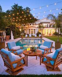 view in gallery exquisite outdoor space illuminated with string lights backyard string lighting