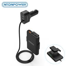 <b>NTONPOWER</b> 5 Ports USB QC 3.0 Car Charger with 1.8m ...