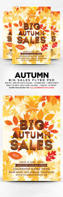 flyer template flyers and templates big autumn s flyer template psd flyers print templates