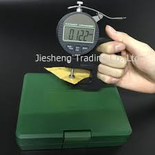 0 10mm 01mm wheel digital thickness gauge for plastic film paper leather rubber