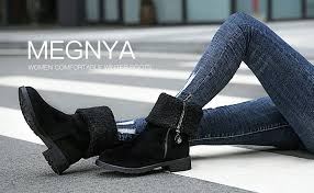 Winter Boots for Women Stylish Fold Suede Closed ... - Amazon.com