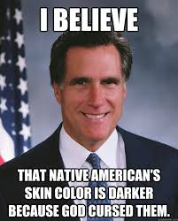 I Believe That native american's skin color is darker because god ... via Relatably.com