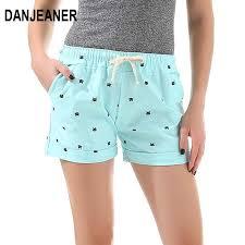 <b>DANJEANER 2018 New</b> Cotton <b>Women's</b> Casual Shorts home style ...
